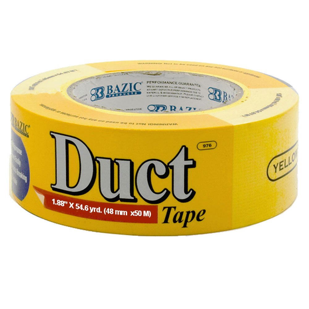 BAZIC 1.88'' X 60 Yards Yellow Duct Tape (Case of 12)