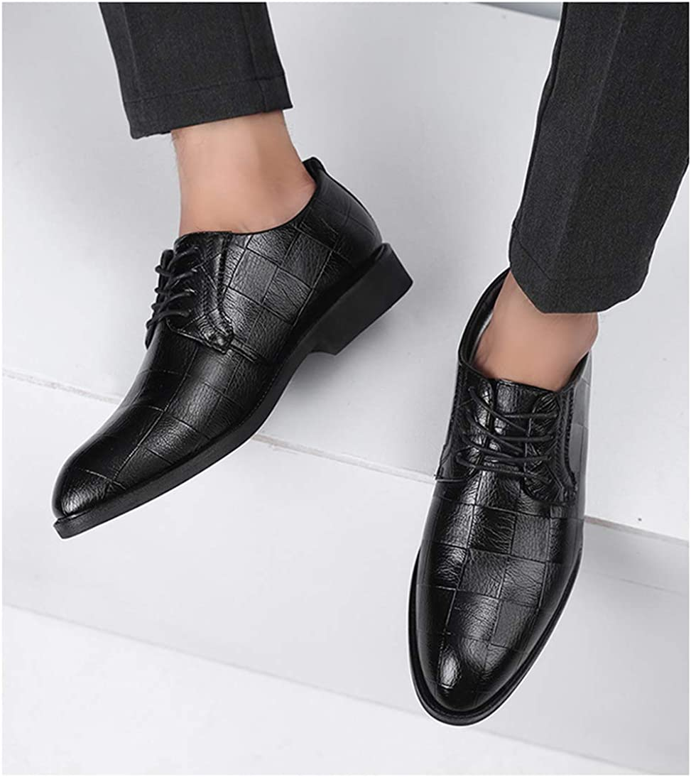 Mens Toe Leather Oxford Formal Business Casual Comfortable Dress Shoes for Men