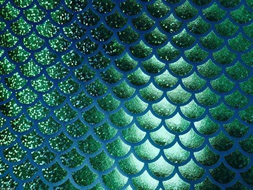 1 opinioni per tessuto Jersey sirena scala pesce Tale Foil -2W materiale elasticizzato 112cm