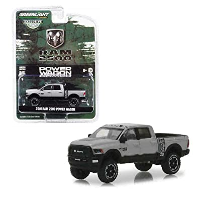 2020 Dodge Ram 2500 Power Wagon Pickup Truck Metallic Silver Hobby Exclusive 1/64 Diecast Model Car by Greenlight 30014: Toys & Games