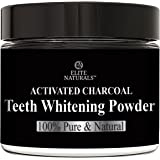 Natural Teeth Whitening Powder, Organic Coconut Activated Charcoal and Bentonite Clay Formula, for Stronger and Healthier Teeth More Effective Than Whitening Strips, Kits, Gel or Toothpaste