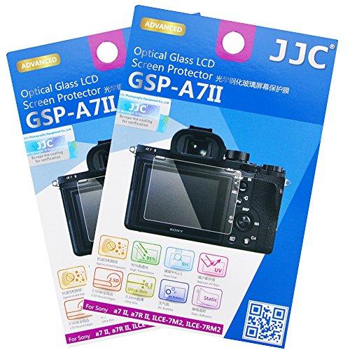 2 Pack JJC 0.01″ Ultra-thin Clear Tempered Glass Camera Screen Protector for Sony a9 a7III a7II a7RIII a7RII a7SII / ILCE-A9 ILCE-A7M3 A7M2 A7RM3 A7RM2 A7SM2 Digital Mirrorless Camera Anti-scratch