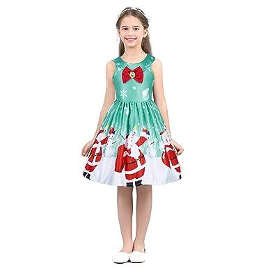 Agoky Vestido Flores de Princesa Fiesta para Niñas Sin Mangas ...
