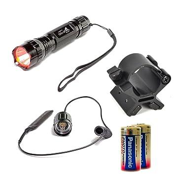 LED de Martin Caza del paquete con soporte magnético - Rojo de luz: Amazon.es: Deportes y aire libre