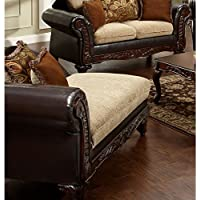 Chelsea Home Furniture Trixie Chaise, Radar Havana/Bi-Cast Brown