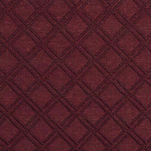 (E545 Burgundy Diamond Jacquard Woven Contemporary Upholstery Grade Fabric by The Yard)