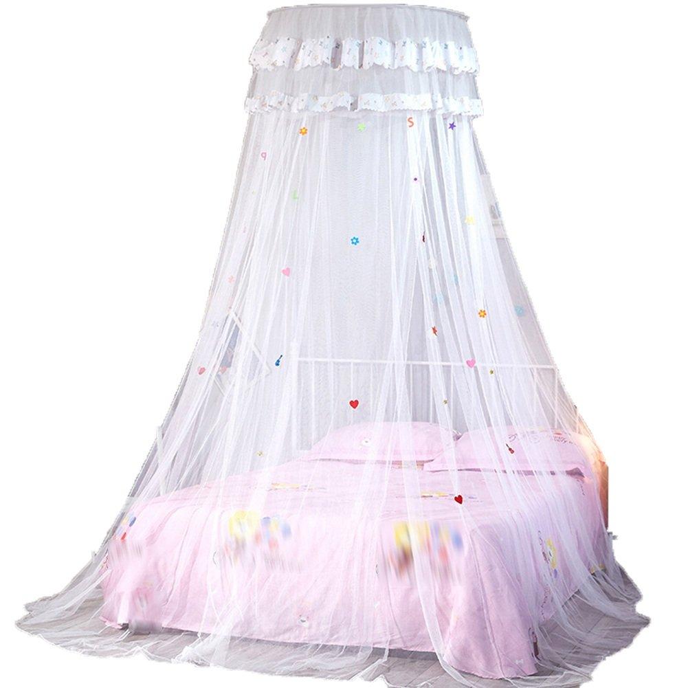 蚊帳 モスキートネット 丸い天井インストールする必要はありませんシングルドアユートファッション(5色オプション) TINGTIGN (色 : 白, サイズ さいず : 1.2M) 1.2M 白 B07DBXPW8P