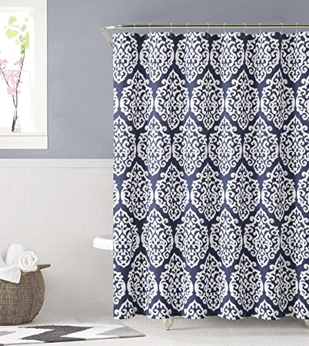 Damask Floral Geometric Cotton Curtain product image