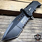 New M-Tech BALLISTIC ARMY Tanto Tactical Military Spring Assisted Open Pocket EcoGift Nice Knife with Sharp Blade- Great For Fun And Practical Use