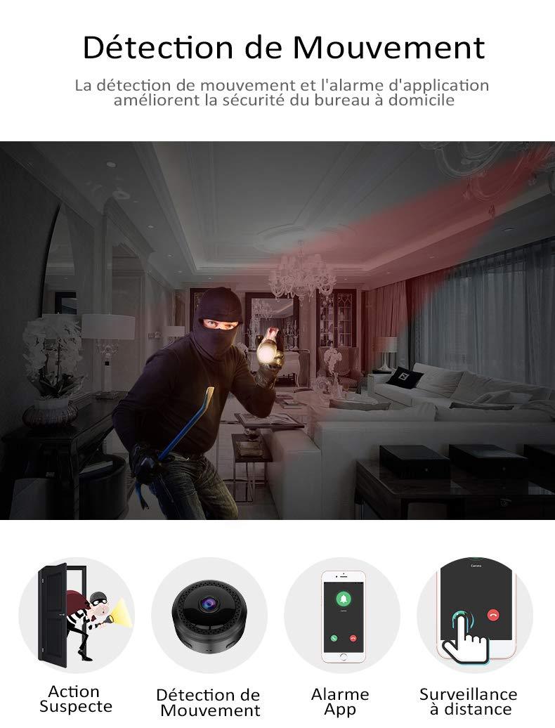 Mini Cámaras - CUSFLYX WiFi HD Cámara Detección de ...