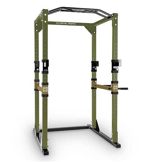 10 opinioni per Capital Sports Tremendour Power Rack stazione allenamento (2 safety spotter, 4