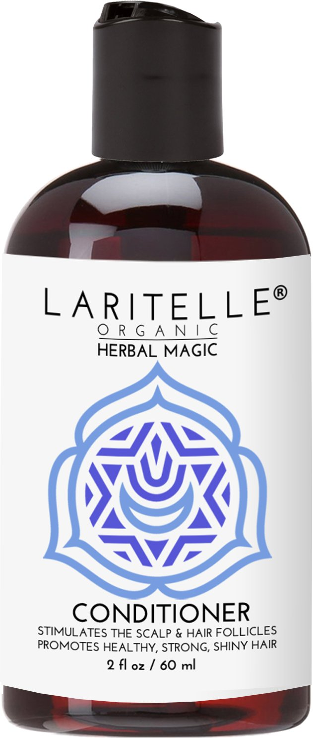 Laritelle Organic Travel Size Conditioner 2 oz | Hair Loss Prevention, Anti-Breakage, Split Ends Treatment | Rosemary & Saw Palmetto | NO GMO, Sulfates, Alcohol, Parabens, Phthalates | GF by Laritelle (Image #1)