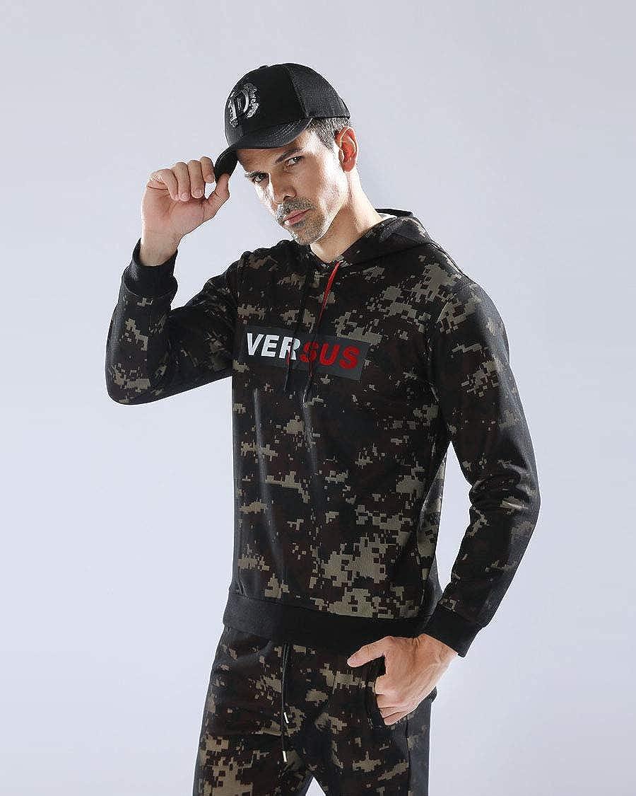 Camougflage Hooded Zipper Tops Sportwear Yuntown Men Jogging Tracksuits Set