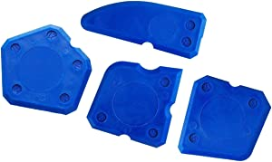 Caulking Tools, 4Pieces Silicone Remover Sealant Finishing Kit Grout Scraper, Blue