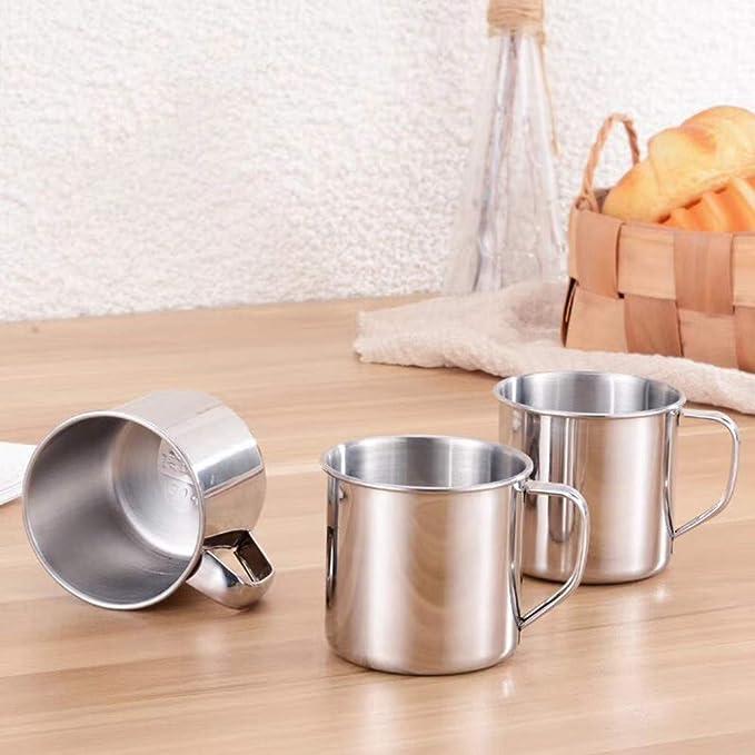 Amazon.com: Newkelly taza de acero inoxidable para acampada ...