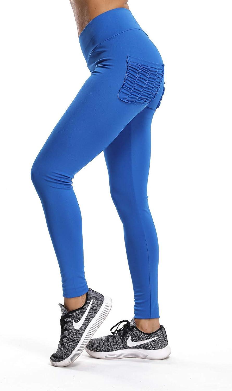 FITTOO Leggins Sportivi da Donna Yoga Pants Vita Alta Push up Fitness Palestra Allenamento