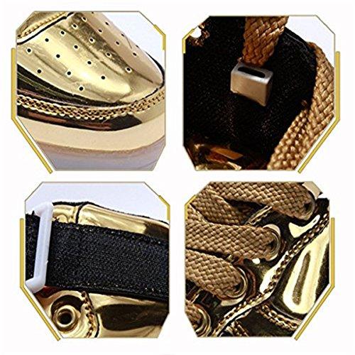 LED Oro Luminosi Unisex Luci Le Adulto Scarpe Scarpe Running Sneakers DoGeek con Accendono Uomo I6wBOU