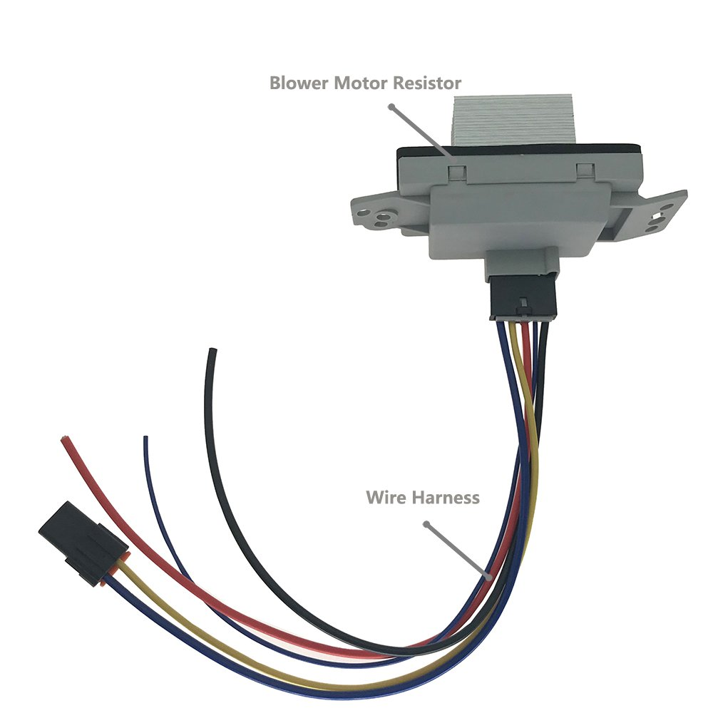 89018778 Blower Motor Resistor Complete Kit With Wire Harness Auto Ac Heater Control Module For Chevy Silverado Suburban Tahoe Avalanche Gmc