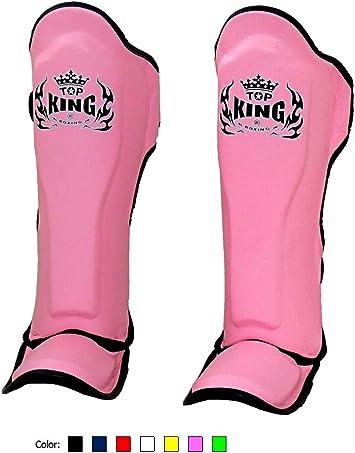 KINGTOP Top King Shin Guards White Leather Shin Protection 23