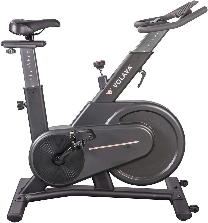 VOLAVA Smart Bike Bicicleta Estática con Freno Magnético y transmisión por correa, Gris