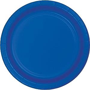 Creative Converting Cobalt Dessert Paper Plate, 6.75