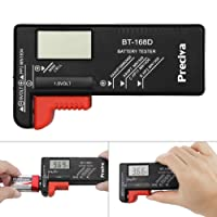 Batterietester, Preciva Digitaler Batterieprüfer, Akku- Tester, Batteriemessgerät, Batterieprüfgerät für alle gängigen Batteriearten