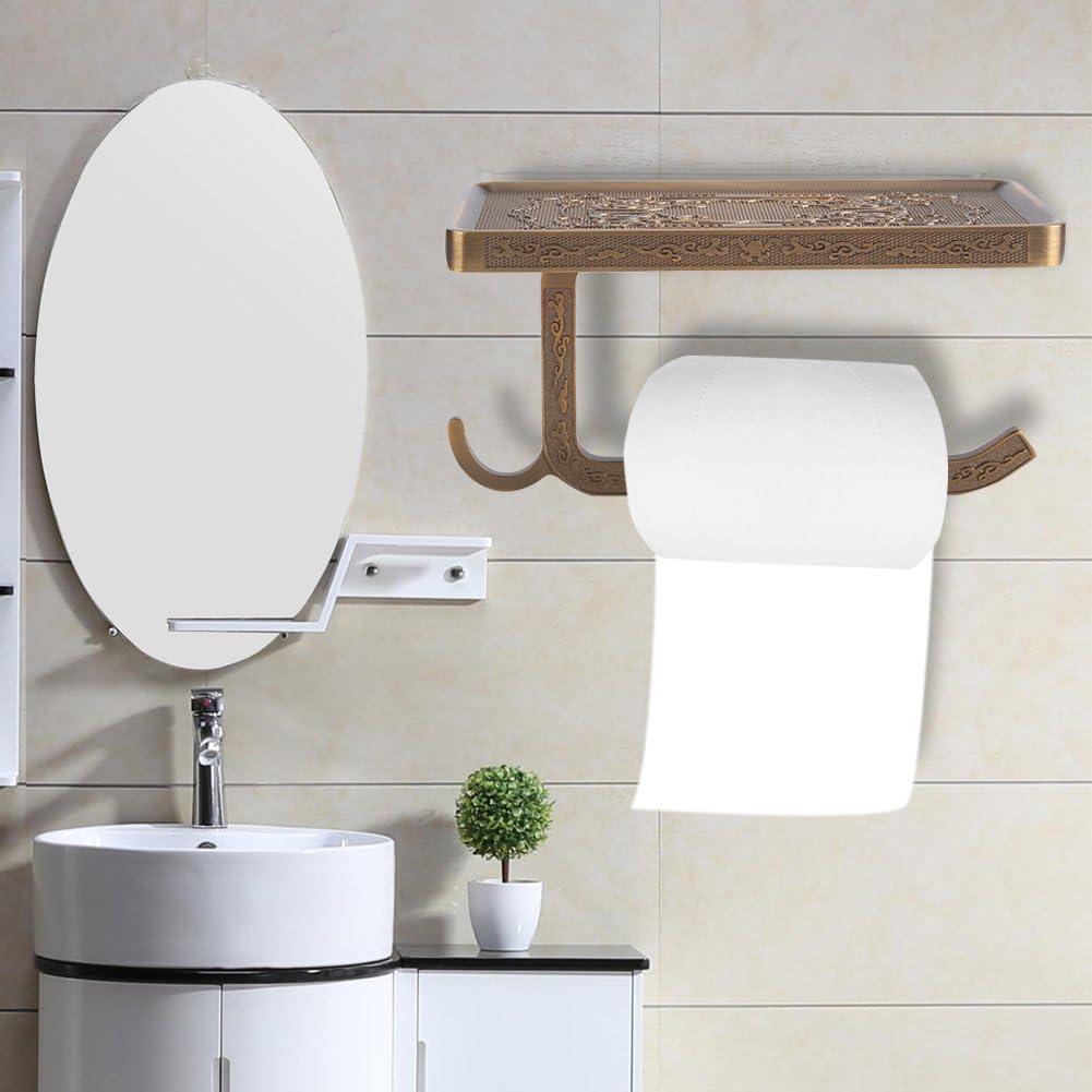 estante para pa/ñuelos con tel/éfono y gancho Portarrollos de papel higi/énico vintage lat/ón cocina para ba/ño montaje en pared
