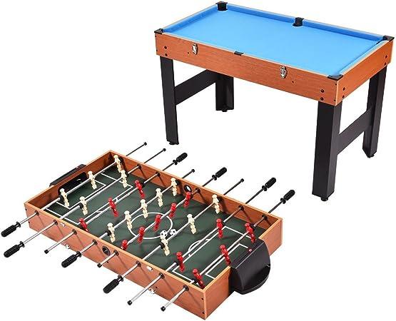 COSTWAY Algoodsdelight365 - Mesa de Juego de Hockey para Billar de fútbol, 3 en 1, 122 cm: Amazon.es: Deportes y aire libre