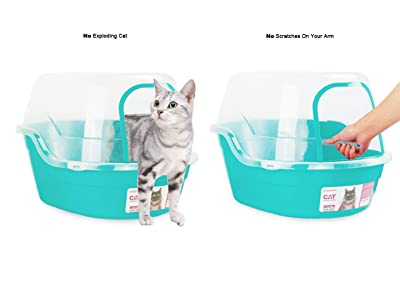 Petphabet Jumbo Hooded Kitty Litter Pan