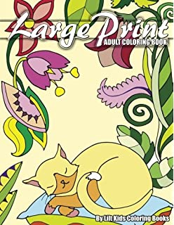 Amazon Com Easy Adult Coloring Book Large Print Designs Beautiful