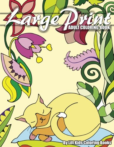 Large Print Adult Coloring Book (Premium Adult Coloring Books) (Volume 3)