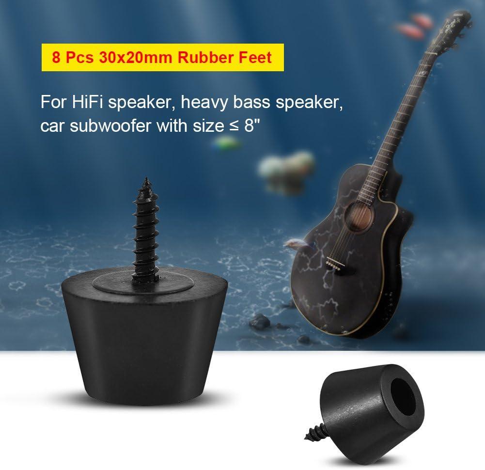 Anti-Vibration Rubber Feet Shockproof Speaker Guitar Amplifier Base Pad Stand Set of 8Pcs Rubber AMP Feet