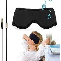 "Sleepace Sleep Headphones, Comfortable Washable Eye Mask with Built-in Earphone for Sleeping, Perfect for Air Travel, Relaxation, Meditation, Insomnia, Side Sleep M(21.65""~22.44"")"