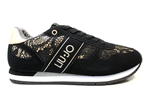 aaffdd93e749c liu jo Girl UM23277C Nero Sneakers Scarpe Donna Bambina Calzature Comode   Amazon.it  Scarpe e borse