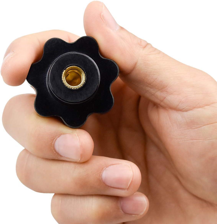 NATEE 12 PCS M8 Sterngriffmutter Klemmknopf Form Knob Griff Hand Knob Werkzeugmaschine Innengewinde Kunststoffgewinde Schraube Auf Typ Sternkopf Klemmknopfgriff