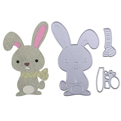 DIPOLA DIY Plantillas de Troquelado de Metal en Forma de Conejo,Repujado para Crear Álbumes de Recortes.Celebración de Navidad &001: Amazon.es: Hogar