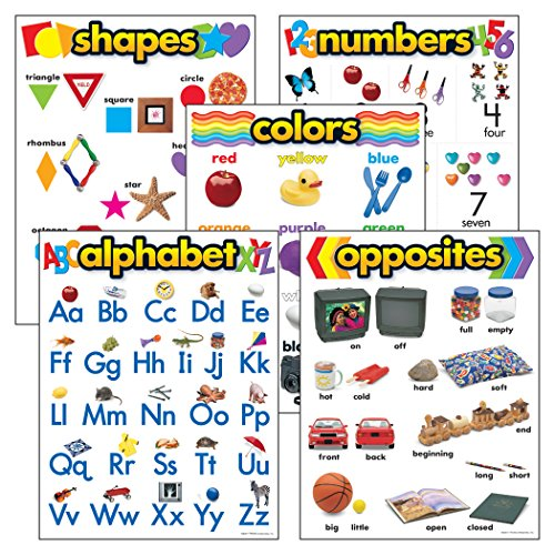 TREND enterprises, Inc. Kindergarten Basic Skills Learning Chts Combo Pk, set 5