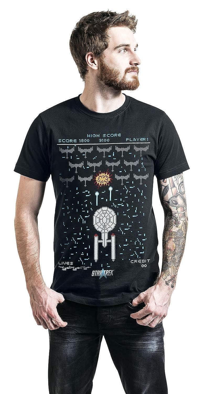 Star Trek Game T-Shirt Manches Courtes Noir