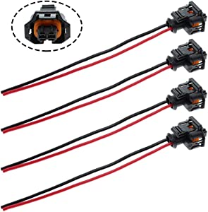 MOTOALL 4pcs Fuel Injector Plug Connector Wire Harness Wiring Pigtail for Duramax LLY LBZ LLM 6.6L Diesel Injector Control Valve GM Chevrolet GMC Vauxhall Renault Citroen Peugeot Alfa Romeo