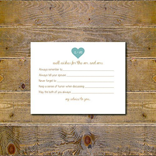 advice cards for wedding bridal shower advice cards well wishes alernative guestbook