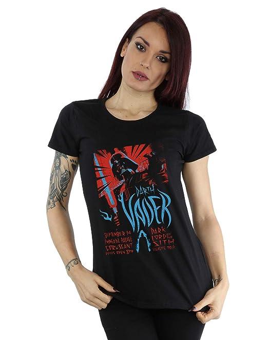 Star Wars mujer Darth Vader Rock Poster Camiseta: Amazon.es: Ropa y accesorios