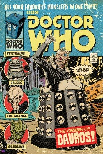 Doctor Who Origin of Davros Comic Book Cover Art Sci Fi British TV Television Show Print (24x36 Unframed Poster)