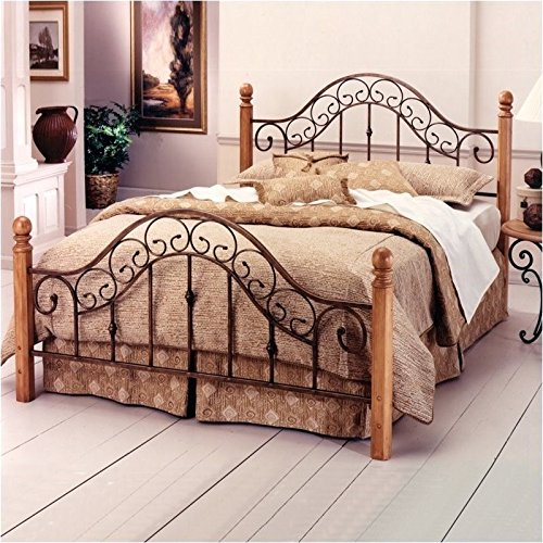 Hillsdale Furniture 310BKR San Marco Bed Set with Rails, King, Brown Copper - Solid Pine Poster Bed