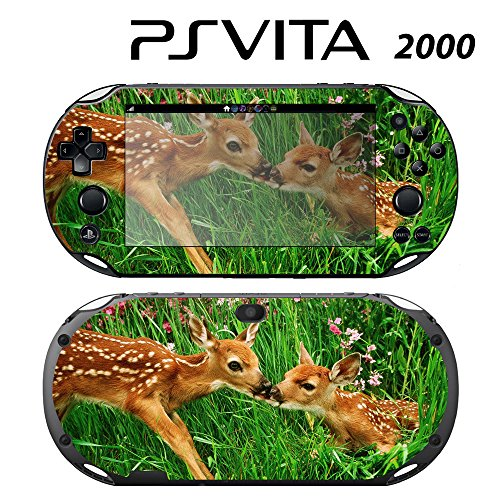 Decorative Video Game Skin Decal Cover Sticker for Sony PlayStation PS Vita Slim (PCH-2000) - Sweet Deer Bambie Kisses -  Decals Plus, PV2-AN16