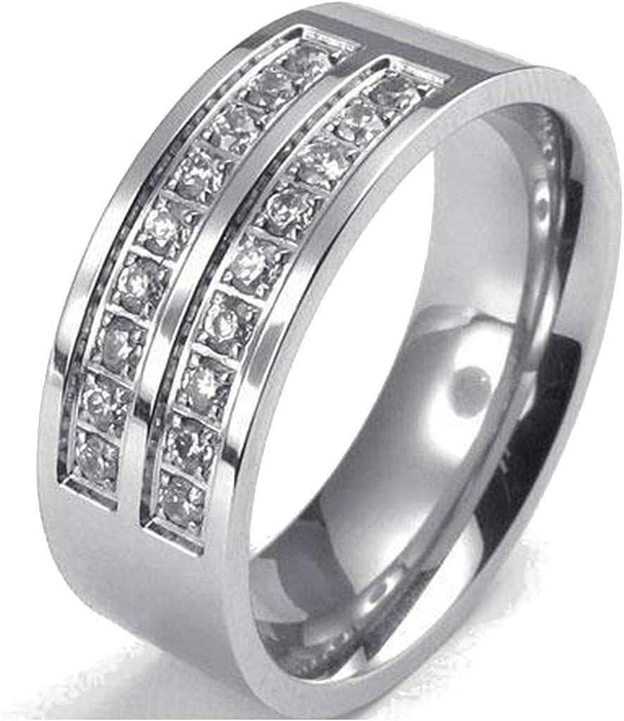 Jude Jewelers Stainless Steel Half Eternity Wedding Band Anniversary Statement Ring