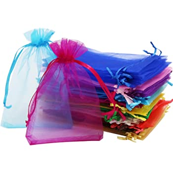a8ca5292a75 Mudder White Organza Gift Bags Wedding Favour Bags Jewelry Pouches ...