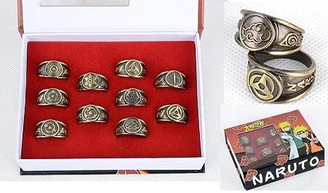 Amazon.com: Fallhuoz - Juego de 10 anillos Naruto para ...
