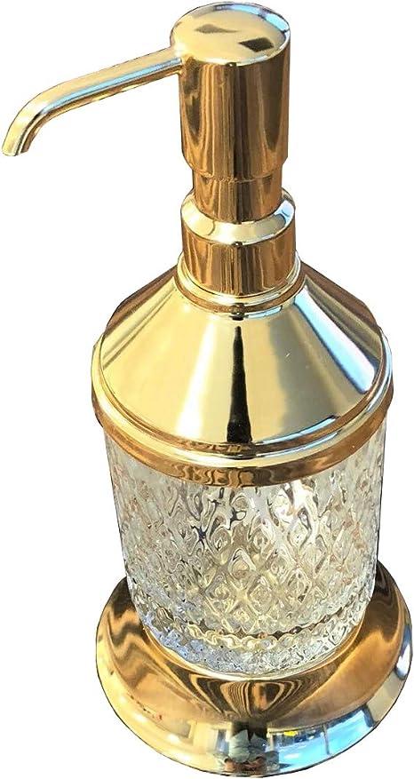 Amazon Com Luxury Brass Liquid Hand Soap Or Lotion Dispenser Gold Bathroom Decor Brass Bathroom Accessories Gold Home Kitchen