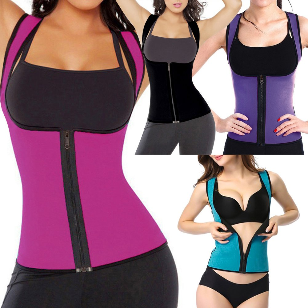 a0dd4a000e Romacci Sexy Women Body Shaper Waist Trainer Zip Tummy Cincher Vest  Underbust Control Corset Slimming Shapewear  Amazon.co.uk  Clothing
