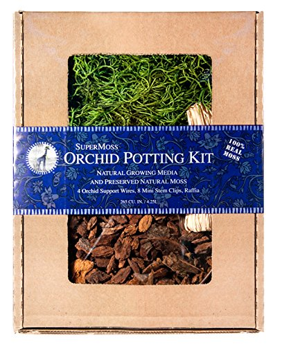 Supermoss 90451) Orchid Potting Kit, Spanish Moss Grass G...